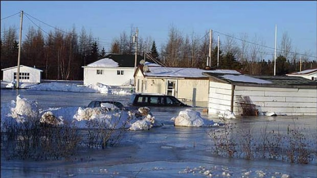 Rising water from icy rivers forced about 1,200 people to evacuate their homes in 2003.