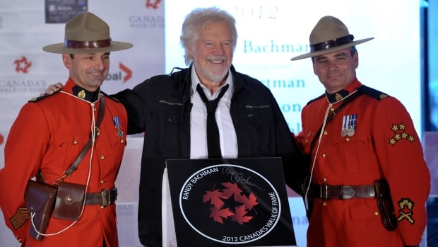 Musician Randy Bachman, seen at the 2012 Canada's Walk of Fame induction in Toronto, was celebrated at the U.S. Musicians Hall of Fame in Nashville on Tuesday.
