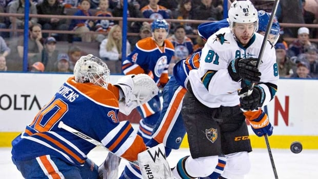 Edmonton Oilers goalie Ben Scrivens made 59 stops to shut out the San Jose Sharks on Wednesday night.