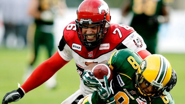 Stampeders long-snapper Randy Chevrier, top, played in all 18 regular-season games last year without making an errant snap while registering nine special-teams tackles.