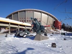Calgary Saddledome in winter