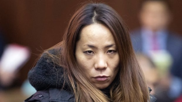 Hajoung Heath appears in a New York court Thursday as a suspect in a sex-ring bust that named 18 suspects.