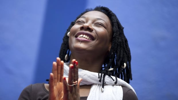 Malian singer Fatoumata Diawara performs at the Hamilton Place Theatre on Sunday night.