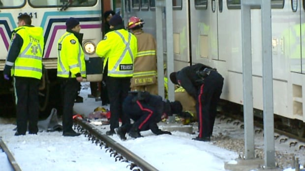 Emergency crews were on scene at the Sunnyside C-Train station Friday afternoon.