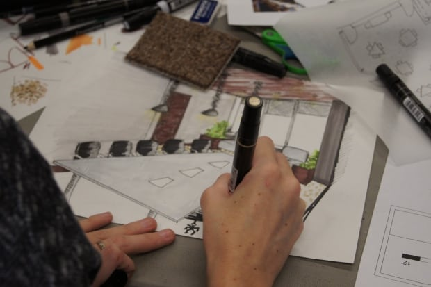 interior design students draw up plans for new waterloo