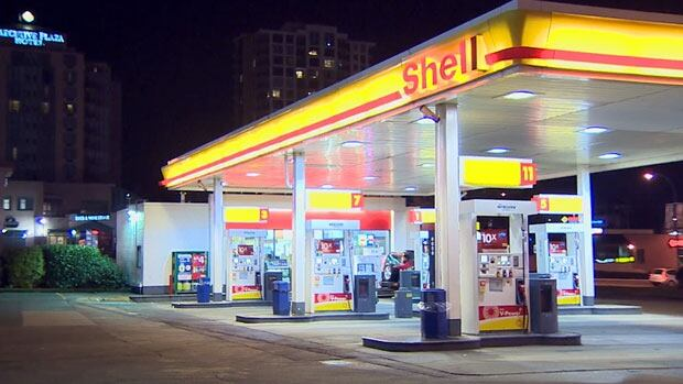 Tyler Wilson says he saw Toronto Mayor Rob Ford speaking with police at this Shell gas station near North Road and Lougheed Highway in Coquitlam on Friday night.