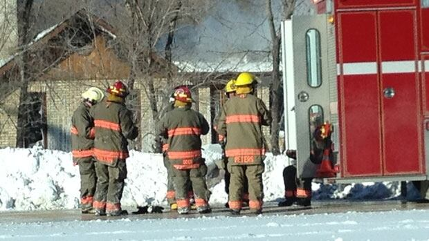 St. Andrews firefighters battled a fire at a home on Highway 9 Saturday.