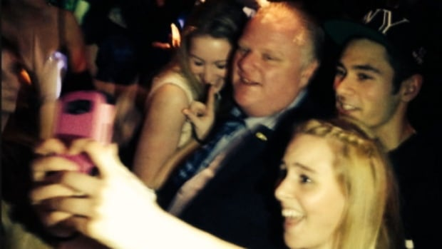 Toronto Mayor Rob Ford was captured in several tweets, Instagram posts, and videos by Lower Mainland locals at The Foggy Dew pub in Coquitlam on Feb. 1, 2014.