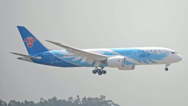 A Boeing 787 passenger jet operated by China Southern Airlines arrives in Guangzhou, capital of south China's Guangdong Province, in 2013.