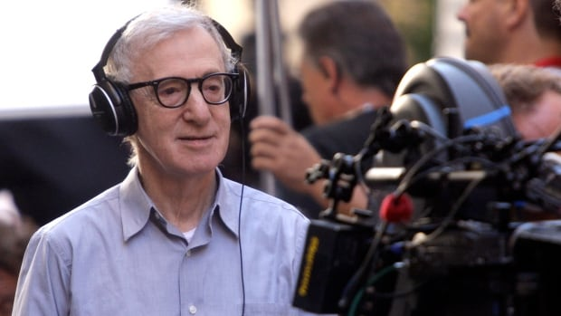 """U.S. director Woody Allen looks on during the shooting of his next movie """"The Bop Decameron"""" in downtown Rome July 25, 2011."""
