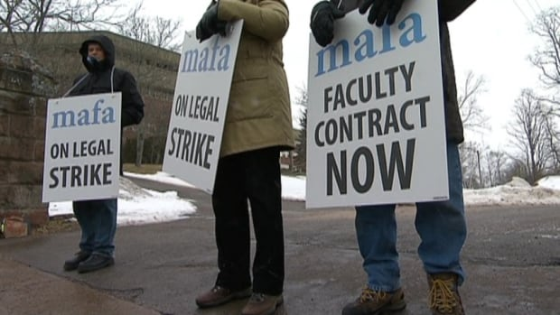 Faculty at Mount Allison University started a legal strike on Jan. 27.