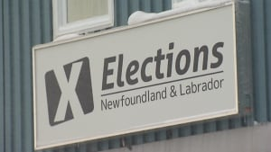 Elections Newfoundland Labrador sign CBC