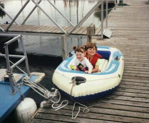 Lauren and Melissa, Steve Micallef's daughters, in the summer of 2000