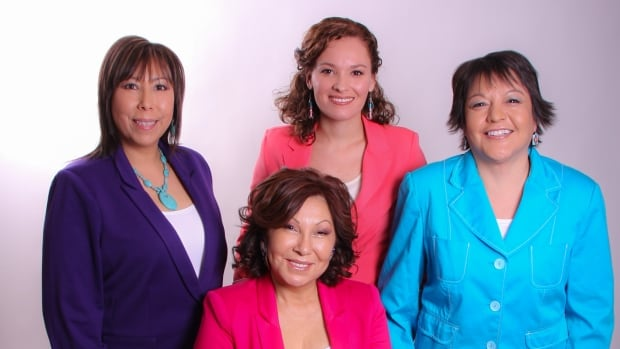 The Four is the new all-female indigenous talk show where four women share their unique perspectives. From left: Shauneen Pete, Robyn Morin, Shannon Fayant. Front row: Bevann Fox.