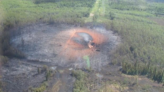 On July 20, 2009, the Peace River Mainline in northern Alberta exploded, sending 50-metre-tall flames into the air and razing a two-hectare wooded area.
