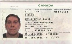 David Eisler Passport
