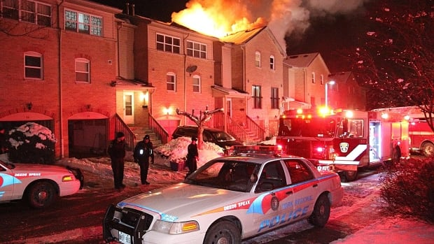 Emergency crews arrived to find flames through the roof at 8675 Bayview Ave. in Richmond Hill.