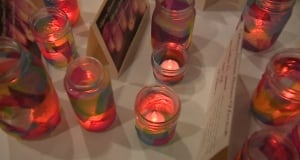 Candles at St. John's vigil