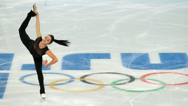 Kaetlyn Osmond of Canada practises during a figure skating session at the Iceberg Skating Palace ahead of the Sochi 2014 Olympic Winter Games.