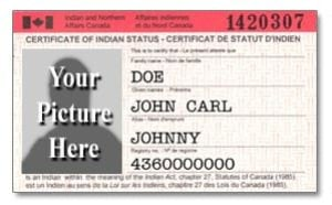 Old indian status card