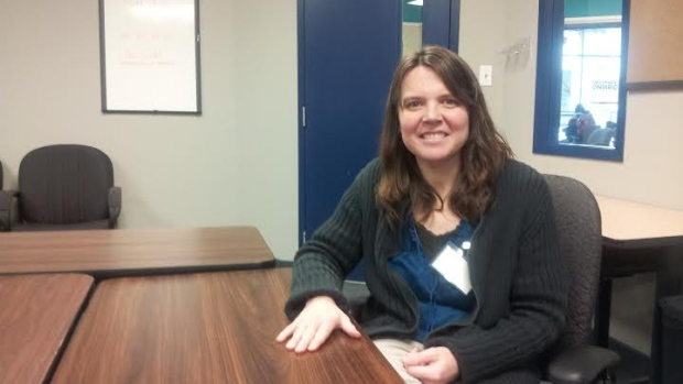 Wendy Craig, who is deaf, is a student in Mohawk College's Social Service Worker program.