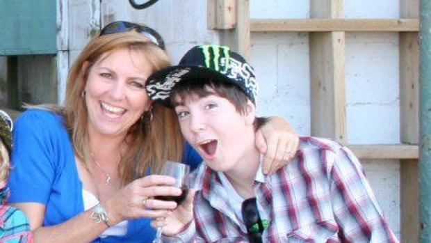 Kim LeBlanc shares a laugh with her son Tyler Schwering, whom she says was always a jokester. His family decided to donate his organs after he was fatally injured in an accident.