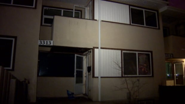 Four people were taken to hospital after a fire early Tuesday morning in this east Edmonton apartment building.