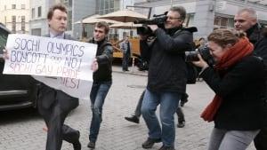 Sochi olympics protester