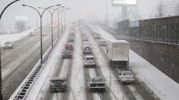 A mix of flurries and rain this morning is expected to slow things down on the roads.