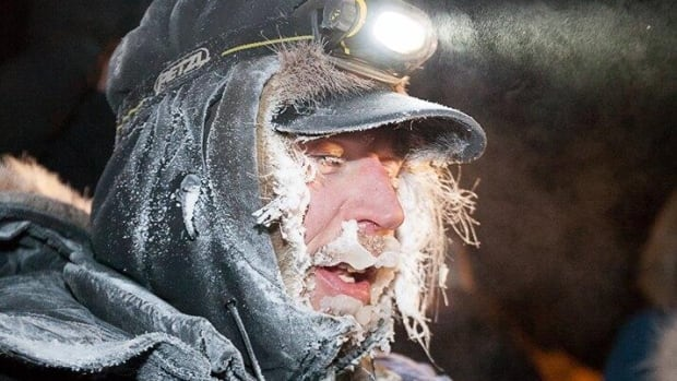Brent Sass of Eureka, Alaska, was the first Yukon Quest musher into Dawson City Tuesday night at 11:02 p.m.