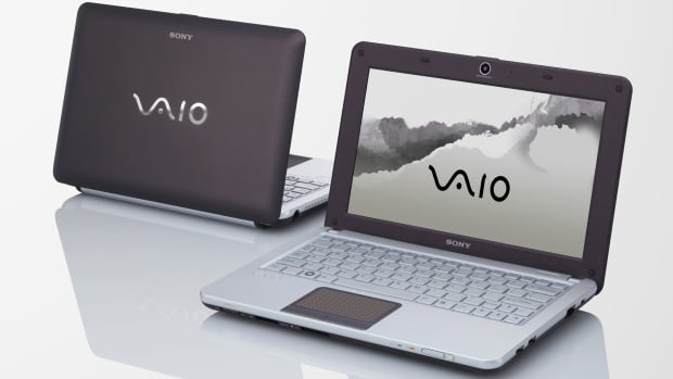 Vaio W series 'netbooks,' a tiny laptop launched by Sony Corp. in 2009, are shown. There are reports Sony is in talks to sell its Vaio division.