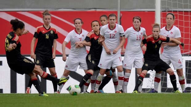 Canada's national women's soccer team will host Germany on June 18.