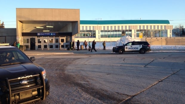 A person was struck by a train Wednesday afternoon in the Coliseum LRT station.