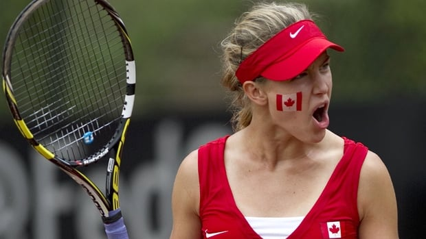 Eugenie Bouchard of Westmount, Que., is the top-ranked women's player competing in this weekend's Fed Cup tie at Montreal.