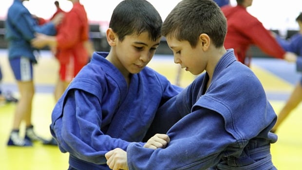 Preparing for another Olympics? Boys practice Sambo, a Russian martial art combining judo and wrestling, which Putin favours and in which he's invested billions of rubles. Russia hopes the self-defence sport will be included in the next Olympics.