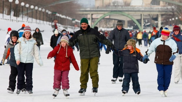 The Massie family skate along the Rideau Canal Skateway on the eve of Family Day, Sunday Feb. 17, 2008.