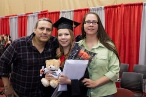 Jessica Lavallee's high school grad with family