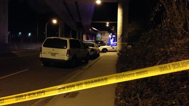 Investigators are at the scene near the Lougheed SkyTrain Station in Burnaby, where a young man was found in cardiac arrest Thursday evening. He died shortly after arriving at a local hospital, and his death is being treated as a homicide.