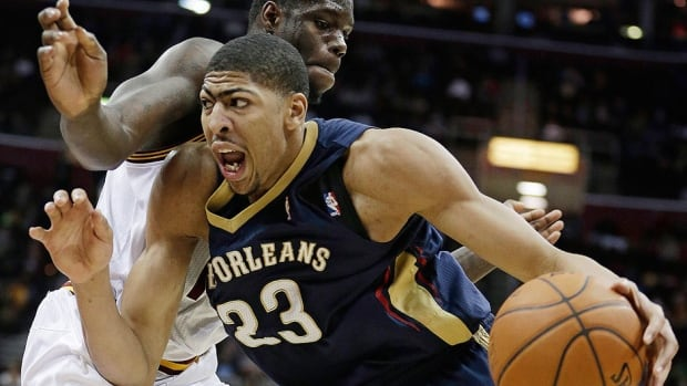Pelicans forward Anthony Davis, bottom, is replacing injured Kobe Bryant in the NBA All-Star Game. He is averaging 20.5 points, 10.5 rebounds and a league-leading 3.3 blocks this season.
