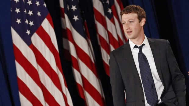 Facebook CEO Mark Zuckerberg and his wife, Priscilla Chan, topped the list of U.S. philanthropists after donating 18 million shares of Facebook stock, valued at more than $970 million US, to a Silicon Valley non-profit in December.