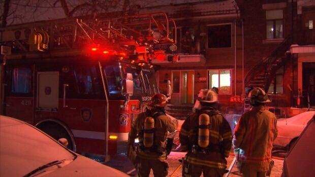 A fire broke out shortly before 3 a.m. in Montreal's Notre-Dame-de-Grâce neighbourhood.