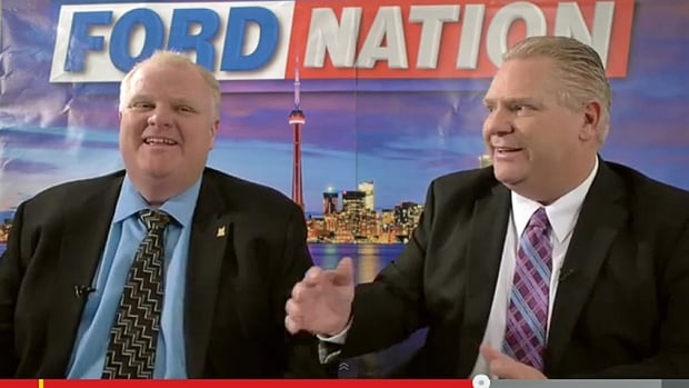 Toronto Mayor Rob Ford and his brother, Coun. Doug Ford, have moved their talk show to YouTube