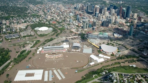 A massive storm dumped record amounts of rain on southern Alberta last June, leading to devastating flooding in Calgary and nearby communities. (Jonathan Hayward/Canadian Press)