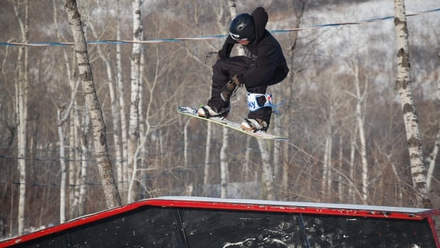 Mark McMorris snowboards at Asessippi Ski Area and Resort in 2008.