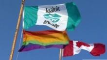 Iqaluit rainbow flag
