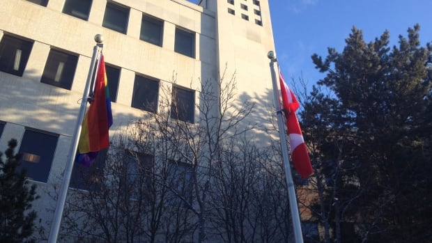 Saskatoon city councillors have voted to raise a symbol of same-sex pride and diversity at city hall.