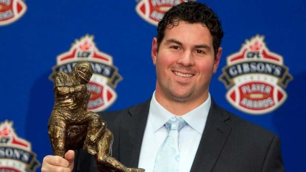 Montreal Alouettes lineman Josh Bourke is a two-time CFL lineman of the year.