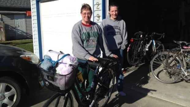 Barbara and Alex Pope bought an electric bike to enable Barbara to ride with the rest of the family.