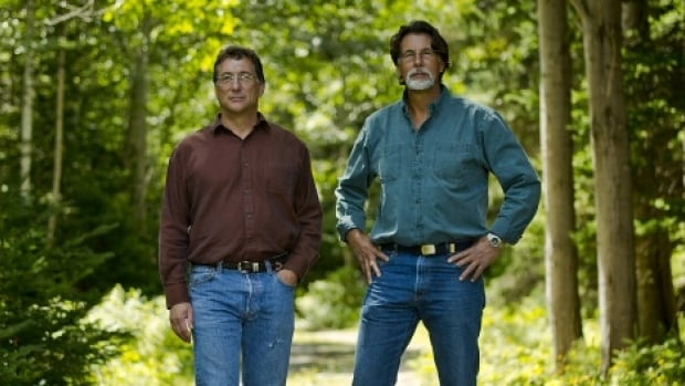 Marty Lagina (left) and Rick Lagina are the subjects of a new show on the History Channel that chronicles their efforts to find treasure on Oak Island in Nova Scotia.