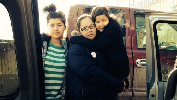 Twila Singer and two of her children attended Prime Minister Stephen Harper's announcement on First Nation education last week at the Kainai First Nation high school.